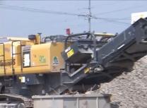 サムネイル:環境リサイクル機械稼働 現場事例 1(都市型/土木)